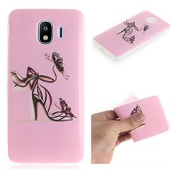 Butterfly High Heels IMD Soft TPU Cell Phone Back Cover for Samsung Galaxy J4 (2018) SM-J400F