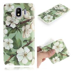 Watercolor Flower IMD Soft TPU Cell Phone Back Cover for Samsung Galaxy J4 (2018) SM-J400F
