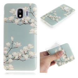 Magnolia Flower IMD Soft TPU Cell Phone Back Cover for Samsung Galaxy J4 (2018) SM-J400F