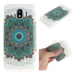 Peacock Mandala IMD Soft TPU Cell Phone Back Cover for Samsung Galaxy J4 (2018) SM-J400F