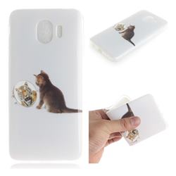 Cat and Tiger IMD Soft TPU Cell Phone Back Cover for Samsung Galaxy J4 (2018) SM-J400F