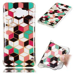 Three-dimensional Square Soft TPU Marble Pattern Phone Case for Samsung Galaxy J4 (2018) SM-J400F
