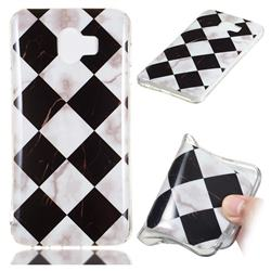 Black and White Matching Soft TPU Marble Pattern Phone Case for Samsung Galaxy J4 (2018) SM-J400F