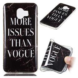 Stylish Black Soft TPU Marble Pattern Phone Case for Samsung Galaxy J4 (2018) SM-J400F