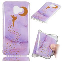 Elf Purple Soft TPU Marble Pattern Phone Case for Samsung Galaxy J4 (2018) SM-J400F