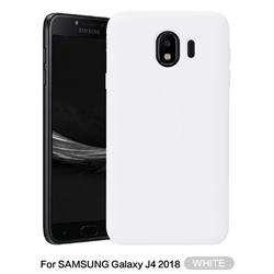 Howmak Slim Liquid Silicone Rubber Shockproof Phone Case Cover for Samsung Galaxy J4 (2018) SM-J400F - White