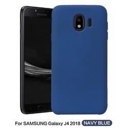 Howmak Slim Liquid Silicone Rubber Shockproof Phone Case Cover for Samsung Galaxy J4 (2018) SM-J400F - Midnight Blue