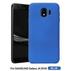 Howmak Slim Liquid Silicone Rubber Shockproof Phone Case Cover for Samsung Galaxy J4 (2018) SM-J400F - Sky Blue
