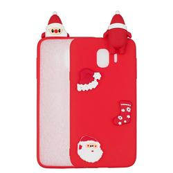 Red Santa Claus Christmas Xmax Soft 3D Silicone Case for Samsung Galaxy J4 (2018) SM-J400F