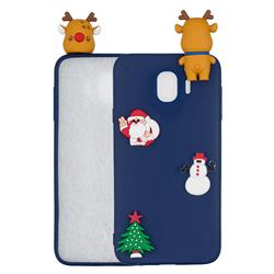 Navy Elk Christmas Xmax Soft 3D Silicone Case for Samsung Galaxy J4 (2018) SM-J400F