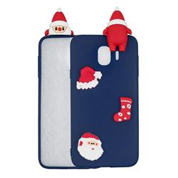 Navy Santa Claus Christmas Xmax Soft 3D Silicone Case for Samsung Galaxy J4 (2018) SM-J400F