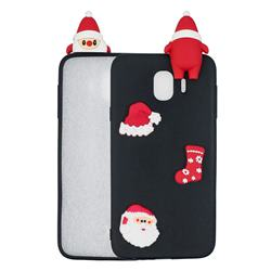 Black Santa Claus Christmas Xmax Soft 3D Silicone Case for Samsung Galaxy J4 (2018) SM-J400F