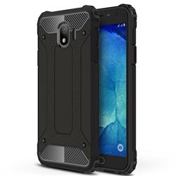 King Kong Armor Premium Shockproof Dual Layer Rugged Hard Cover for Samsung Galaxy J4 (2018) SM-J400F - Black Gold