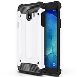 King Kong Armor Premium Shockproof Dual Layer Rugged Hard Cover for Samsung Galaxy J4 (2018) SM-J400F - White