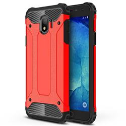 King Kong Armor Premium Shockproof Dual Layer Rugged Hard Cover for Samsung Galaxy J4 (2018) SM-J400F - Big Red