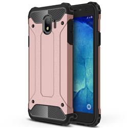 King Kong Armor Premium Shockproof Dual Layer Rugged Hard Cover for Samsung Galaxy J4 (2018) SM-J400F - Rose Gold