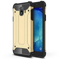 King Kong Armor Premium Shockproof Dual Layer Rugged Hard Cover for Samsung Galaxy J4 (2018) SM-J400F - Champagne Gold