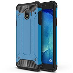 King Kong Armor Premium Shockproof Dual Layer Rugged Hard Cover for Samsung Galaxy J4 (2018) SM-J400F - Sky Blue