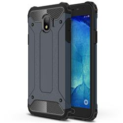 King Kong Armor Premium Shockproof Dual Layer Rugged Hard Cover for Samsung Galaxy J4 (2018) SM-J400F - Navy