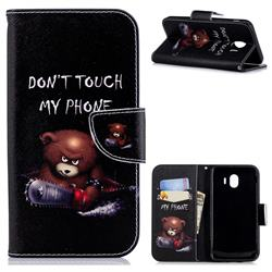 Chainsaw Bear Leather Wallet Case for Samsung Galaxy J4 (2018) SM-J400F