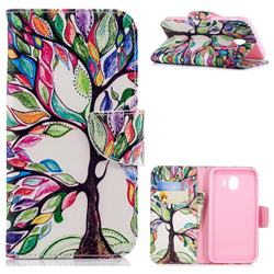 The Tree of Life Leather Wallet Case for Samsung Galaxy J4 (2018) SM-J400F