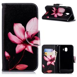 Lotus Flower Leather Wallet Case for Samsung Galaxy J4 (2018) SM-J400F