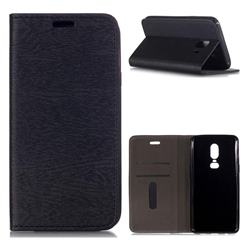 Tree Bark Pattern Automatic suction Leather Wallet Case for Samsung Galaxy J4 (2018) SM-J400F - Black
