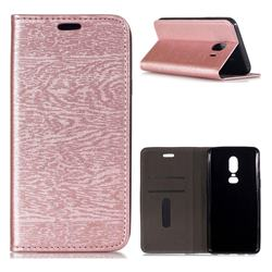Tree Bark Pattern Automatic suction Leather Wallet Case for Samsung Galaxy J4 (2018) SM-J400F - Rose Gold