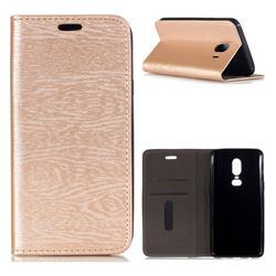 Tree Bark Pattern Automatic suction Leather Wallet Case for Samsung Galaxy J4 (2018) SM-J400F - Champagne Gold