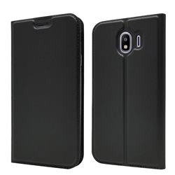 Ultra Slim Card Magnetic Automatic Suction Leather Wallet Case for Samsung Galaxy J4 (2018) SM-J400F - Star Grey