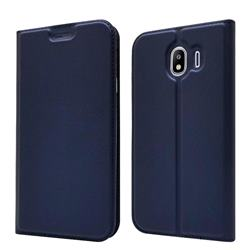 Ultra Slim Card Magnetic Automatic Suction Leather Wallet Case for Samsung Galaxy J4 (2018) SM-J400F - Royal Blue