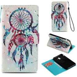 ColorDrops Wind Chimes 3D Painted Leather Wallet Case for Samsung Galaxy J4 (2018) SM-J400F