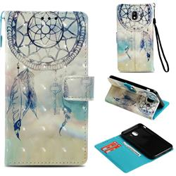 Fantasy Campanula 3D Painted Leather Wallet Case for Samsung Galaxy J4 (2018) SM-J400F
