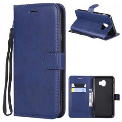 Retro Greek Classic Smooth PU Leather Wallet Phone Case for Samsung Galaxy J4 (2018) SM-J400F - Blue