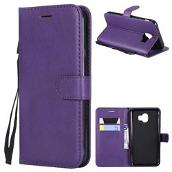Retro Greek Classic Smooth PU Leather Wallet Phone Case for Samsung Galaxy J4 (2018) SM-J400F - Purple