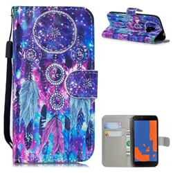 Star Wind Chimes 3D Painted Leather Wallet Phone Case for Samsung Galaxy J4 (2018) SM-J400F