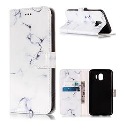 Soft White Marble PU Leather Wallet Case for Samsung Galaxy J4 (2018) SM-J400F