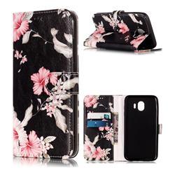 Azalea Flower PU Leather Wallet Case for Samsung Galaxy J4 (2018) SM-J400F