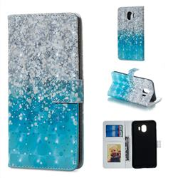 Sea Sand 3D Painted Leather Phone Wallet Case for Samsung Galaxy J4 (2018) SM-J400F