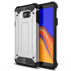 King Kong Armor Premium Shockproof Dual Layer Rugged Hard Cover for Samsung Galaxy J4 Core - Technology Silver