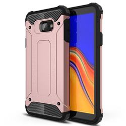 King Kong Armor Premium Shockproof Dual Layer Rugged Hard Cover for Samsung Galaxy J4 Core - Rose Gold