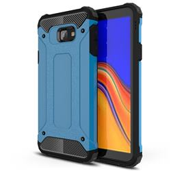 King Kong Armor Premium Shockproof Dual Layer Rugged Hard Cover for Samsung Galaxy J4 Core - Sky Blue