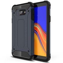 King Kong Armor Premium Shockproof Dual Layer Rugged Hard Cover for Samsung Galaxy J4 Core - Navy