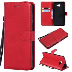 Retro Greek Classic Smooth PU Leather Wallet Phone Case for Samsung Galaxy J4 Core - Red