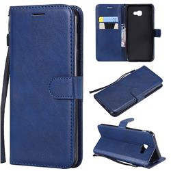 Retro Greek Classic Smooth PU Leather Wallet Phone Case for Samsung Galaxy J4 Core - Blue