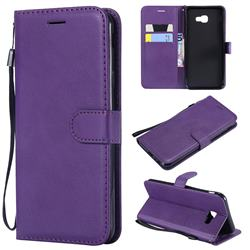 Retro Greek Classic Smooth PU Leather Wallet Phone Case for Samsung Galaxy J4 Core - Purple