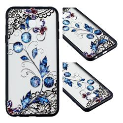 Butterfly Lace Diamond Flower Soft TPU Back Cover for Samsung Galaxy J4 Plus(6.0 inch)