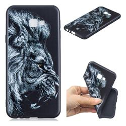 Lion 3D Embossed Relief Black TPU Cell Phone Back Cover for Samsung Galaxy J4 Plus(6.0 inch)