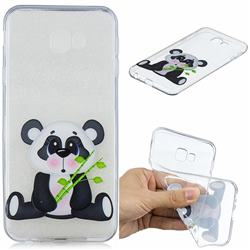 Bamboo Panda Clear Varnish Soft Phone Back Cover for Samsung Galaxy J4 Plus(6.0 inch)