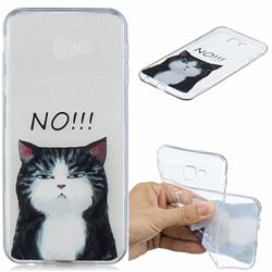 Cat Say No Clear Varnish Soft Phone Back Cover for Samsung Galaxy J4 Plus(6.0 inch)